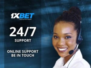 1xBet customers support