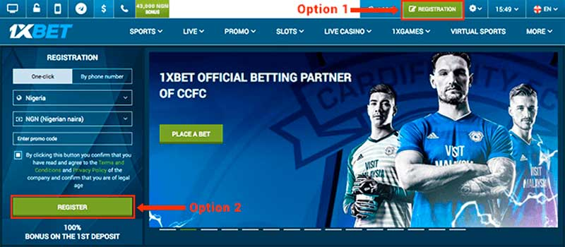 1xBet Registration ⇔ How to register on sports betting site